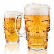 Ölglas Dödskalle