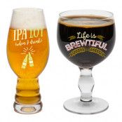 Beer Snob Ölglas Set - 2-pack