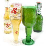 Ölglas av Ölflaskor