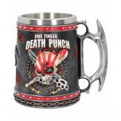 Stort Five Finger Death Punch Lyxig Mugg / Sejdel 15 cm