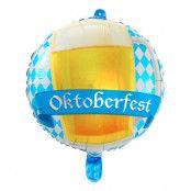 Folieballong Rund Oktoberfest Ölmugg