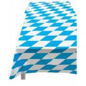 Blå- och vitrutig plast duk Oktoberfest