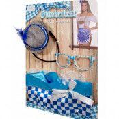 Oktoberfest Dräktset med Förkläde, Glasögon och Mini Hatt