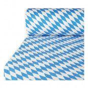 Pappersduk med Damastprägling Bayersk Blå - 10 meter