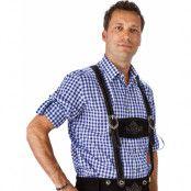 Blå och Vit Rutig Oktoberfestskjorta till Man