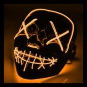 El Wire Purge LED Mask - Orange