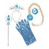 Blått ogch Silverfärgat Prinsess-set 5 Delar