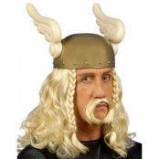 Blond Asterix/Vikingperuk med Mustasch