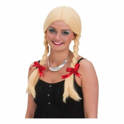 Blond Peruk med Flätor - One size