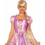 DeLux Rapunzel Inspirerad Blond Peruk 1 Meter