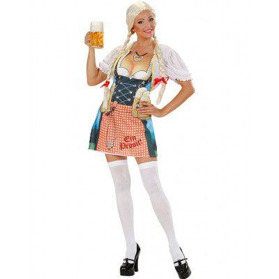 Oktoberfest Heidi Förkläde med Fotorealistiskt Tryck