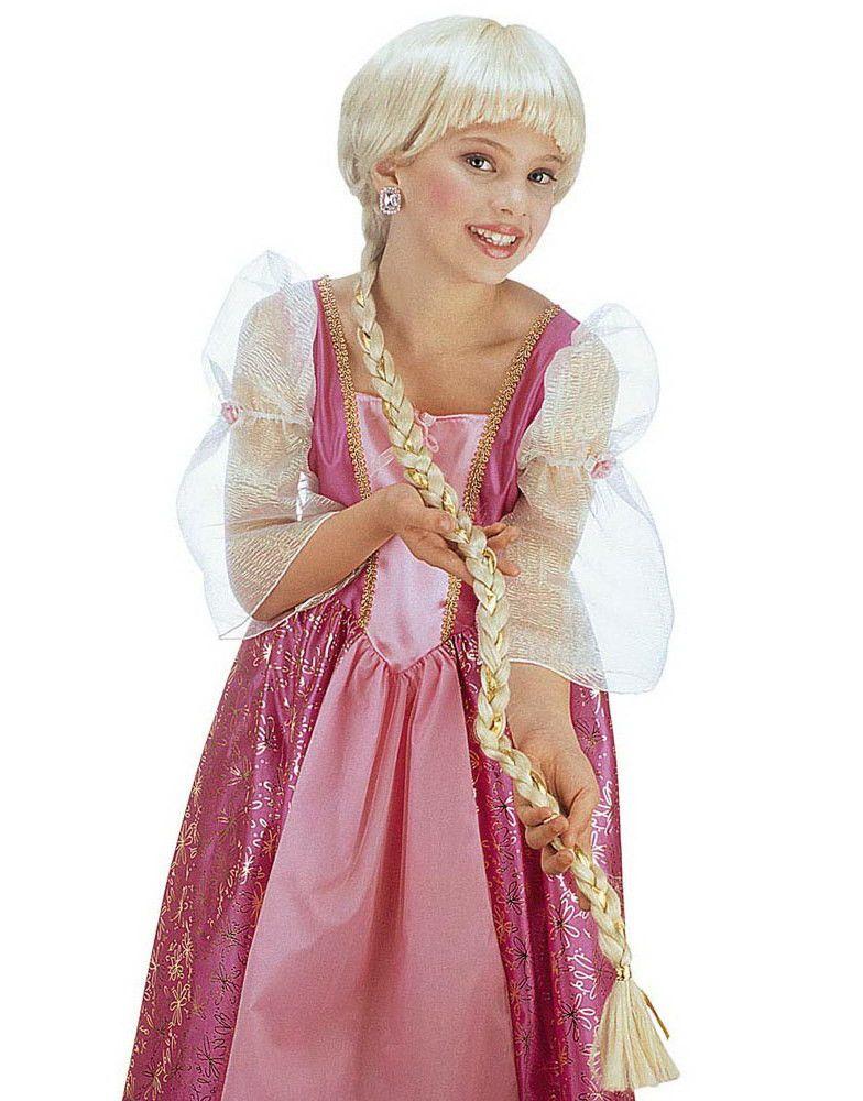Lange Rapunzel Perücke für Kinder 80 cm blond Cod.44611