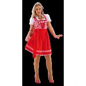 Klänning Oktoberfest Deluxe Röd, SMALL