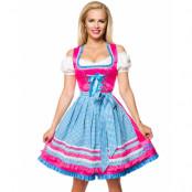 Oktoberfestflörten - Lyxig Dirndl Korsettklänning med Förkläde